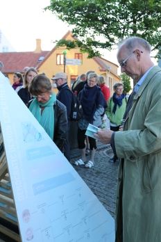 """The students' book """"Democratic Design Experiments"""" was on display, and here its inspected by curious visitors."""