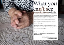 "invitation for event: ""What you can't see: Portraits from within"""